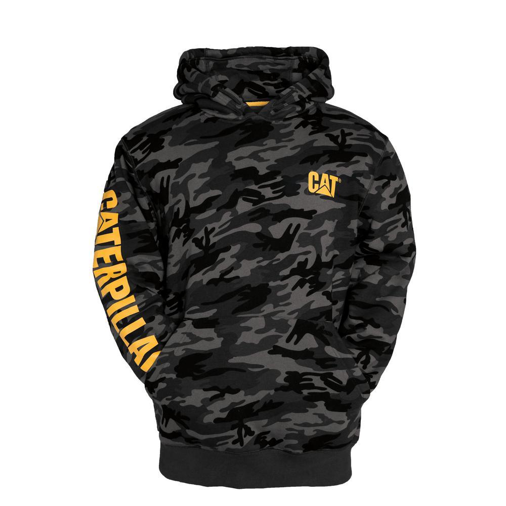 b54aee76f39a4 Caterpillar Trademark Banner Men s Tall-X-Large Night Camo Cotton Polyester Hooded  Sweatshirt