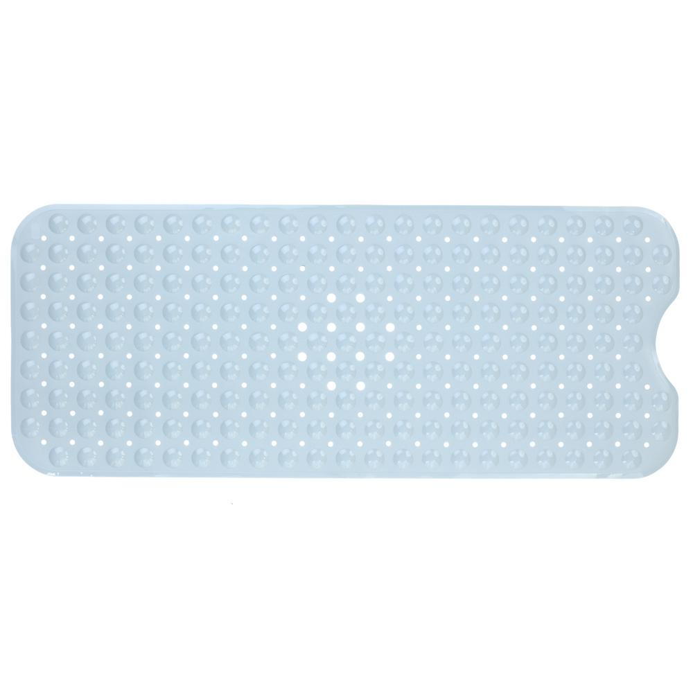 SlipX Solutions 16 in. x 39 in. Extra Long Bath Mat in Gray-05704-1 ...