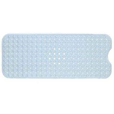 16 in. x 39 in. Extra Long Bath Mat in Gray