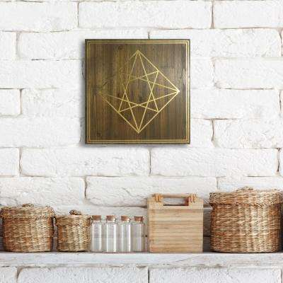 "14 in. x 14 in. ""Geometric Diamond"" by Wynwood Studio Framed Printed Wall Art"