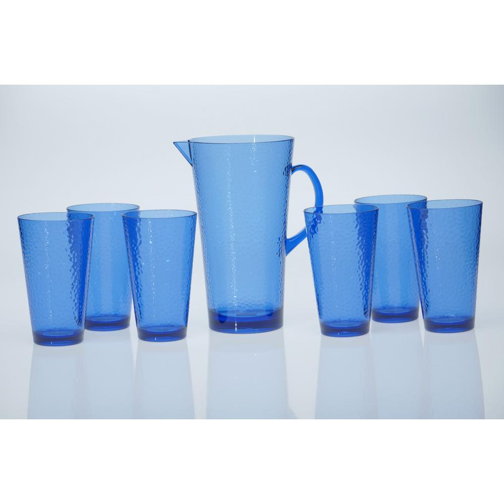 7-Piece Cobalt Blue Drinkware Set