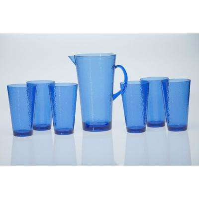 7-Piece Cobalt Blue Drinkware Set