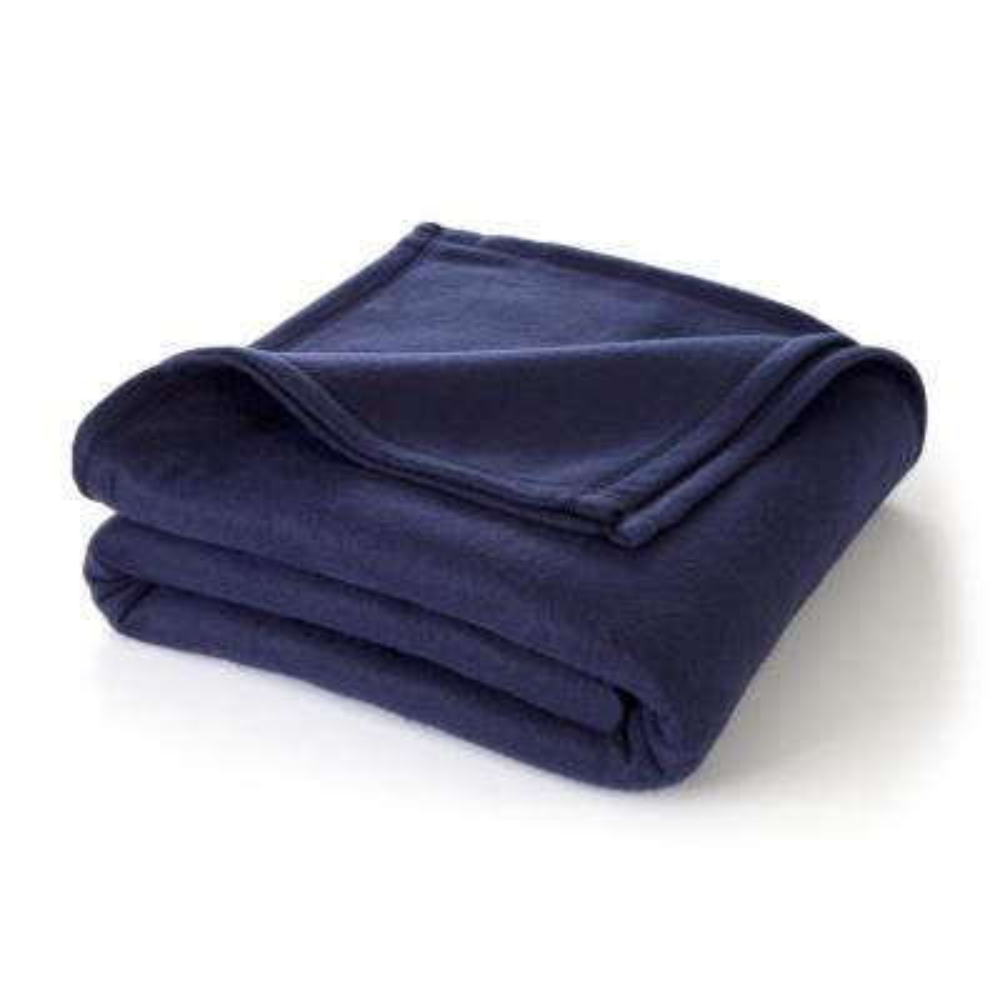 Supersoft Fleece Navy Polyester Twin Blanket