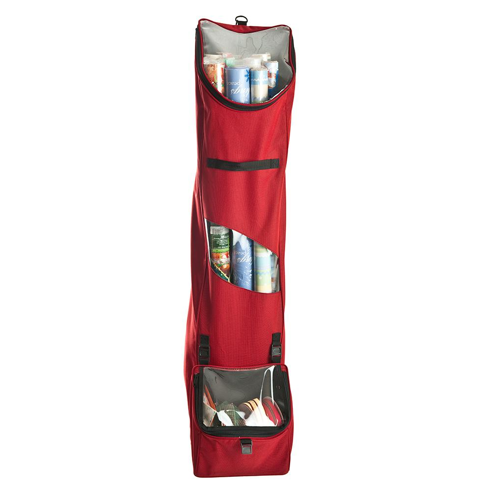 Santa S Bags Red Hanging Wrapping Paper Storage Sb 10130