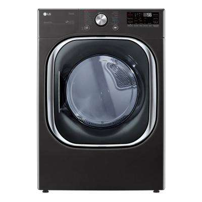 7.4 cu. ft. 240-Volt Black Steel Ultra Large Capacity Electric Dryer with Sensor Dry, Wi-Fi Connectivity Turbo Steam