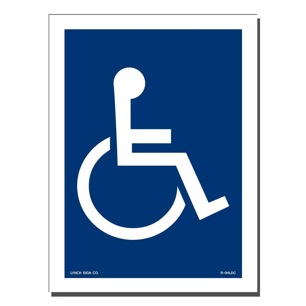 Lynch Sign 6 In X 8 In Decal Blue On White Sticker Accessible