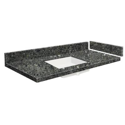 34.25 in. W x 22.25 in. D Quartz Vanity Top in Tempest with Widespread White Basin