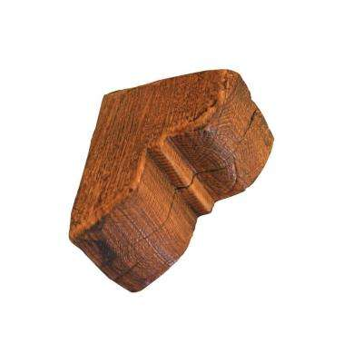 3 in. x 4-1/4 in. x 3 in.Prefinished Polyurethane Rustic Faux Wood Corbel