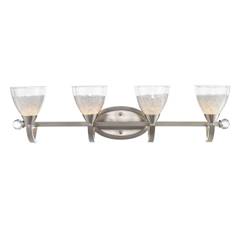 null Glint Collection 4-Light Pewter Bath Vanity Light