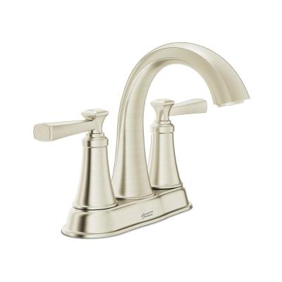 Rumson 4 in. Centerset 2-Handle Bathroom Faucet in Brushed Nickel