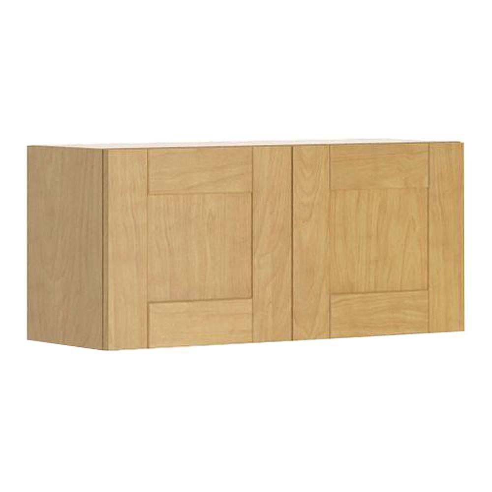 Ready to Assemble 33x15x12.5 in. Milano Wall Bridge Cabinet in Maple