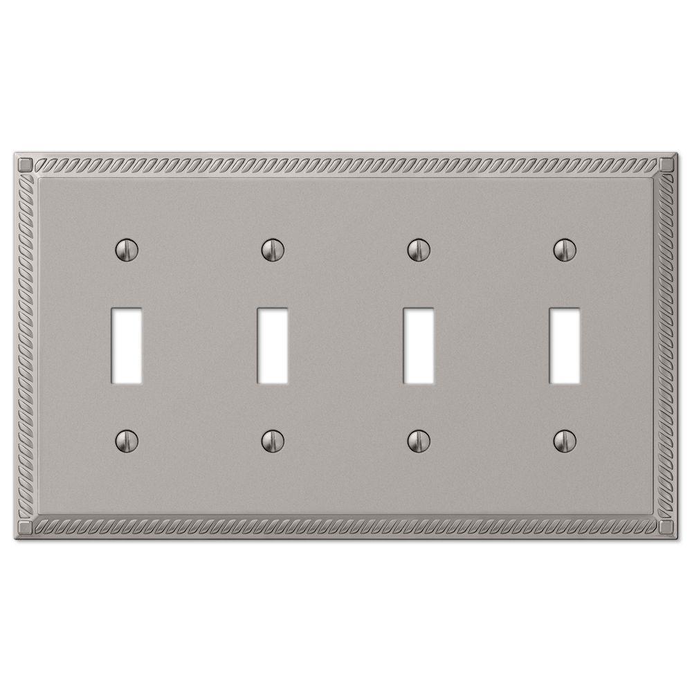 Elumina Decor Wall Plate Satin Nickel : Hampton bay georgian toggle wall plate satin nickel