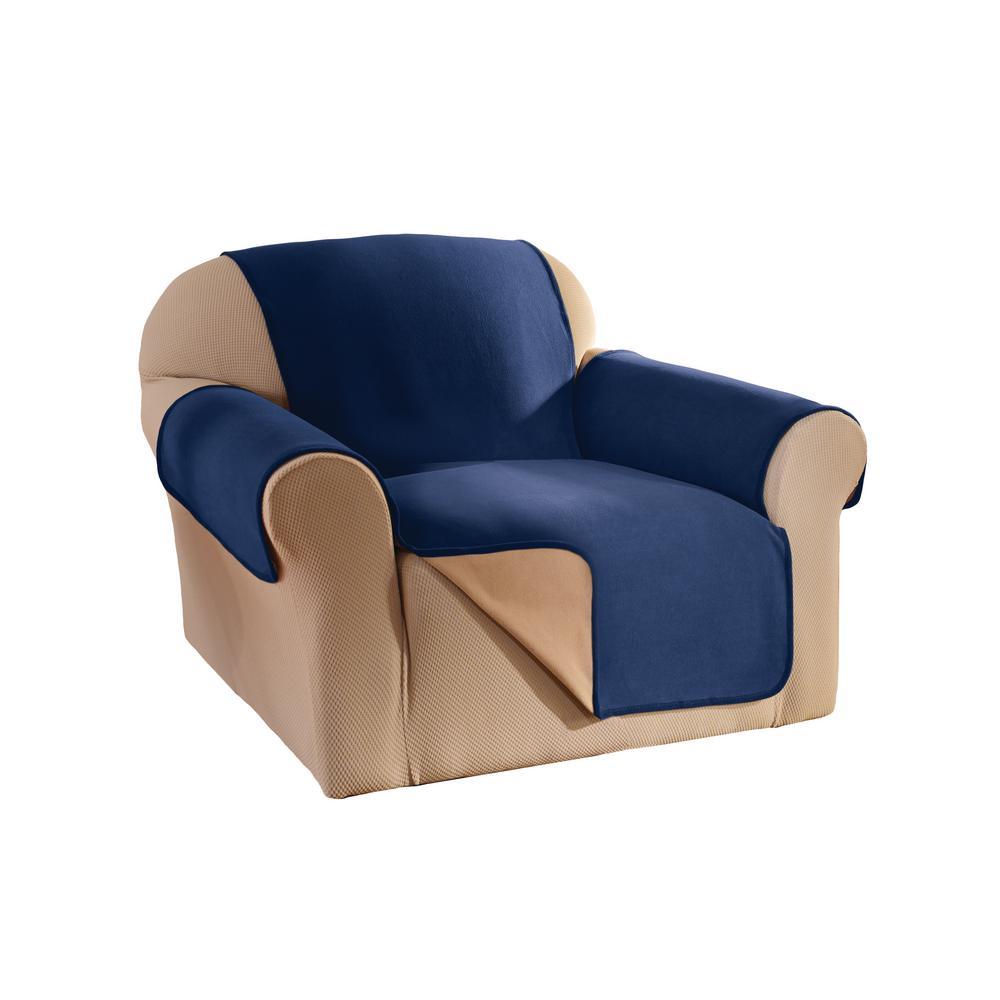 Navy Reversible Waterproof Fleece Chair Furniture Protector
