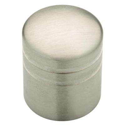 Palladium 1 in. (26mm) Stainless Steel Cylinder Cabinet Knob