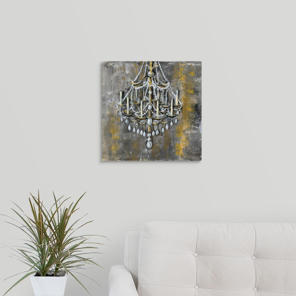 Greatbigcanvas Vintage Chandelier I By Silvia Vassileva Canvas Wall Art