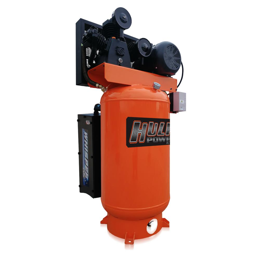 HULK POWER Industrial Series 80 Gal. 5 HP 1-Phase Stationary Silent Electric Air Compressor