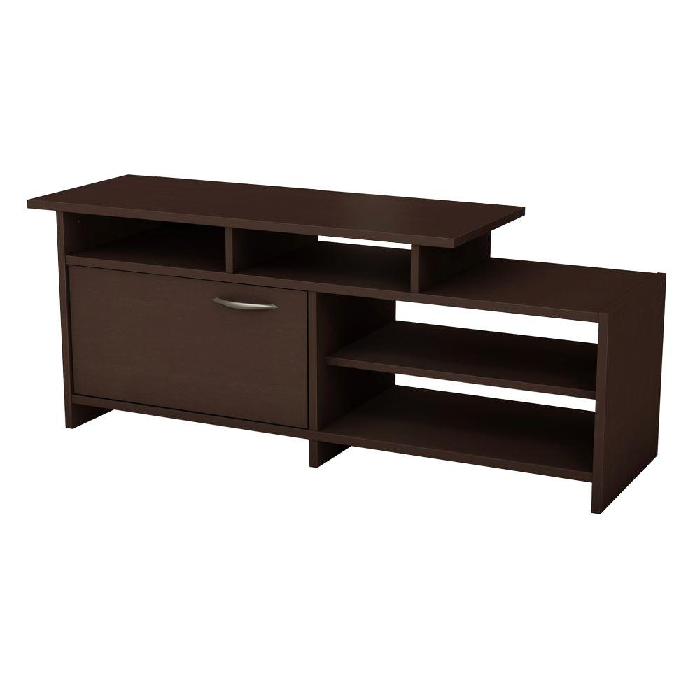 South Shore Step One 50-Disk Capacity TV Stand in Chocolate