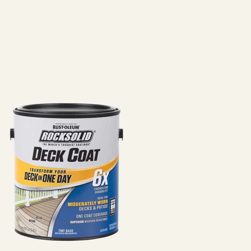Rust-Oleum RockSolid 1 gal  White Exterior 6X Deck Coat