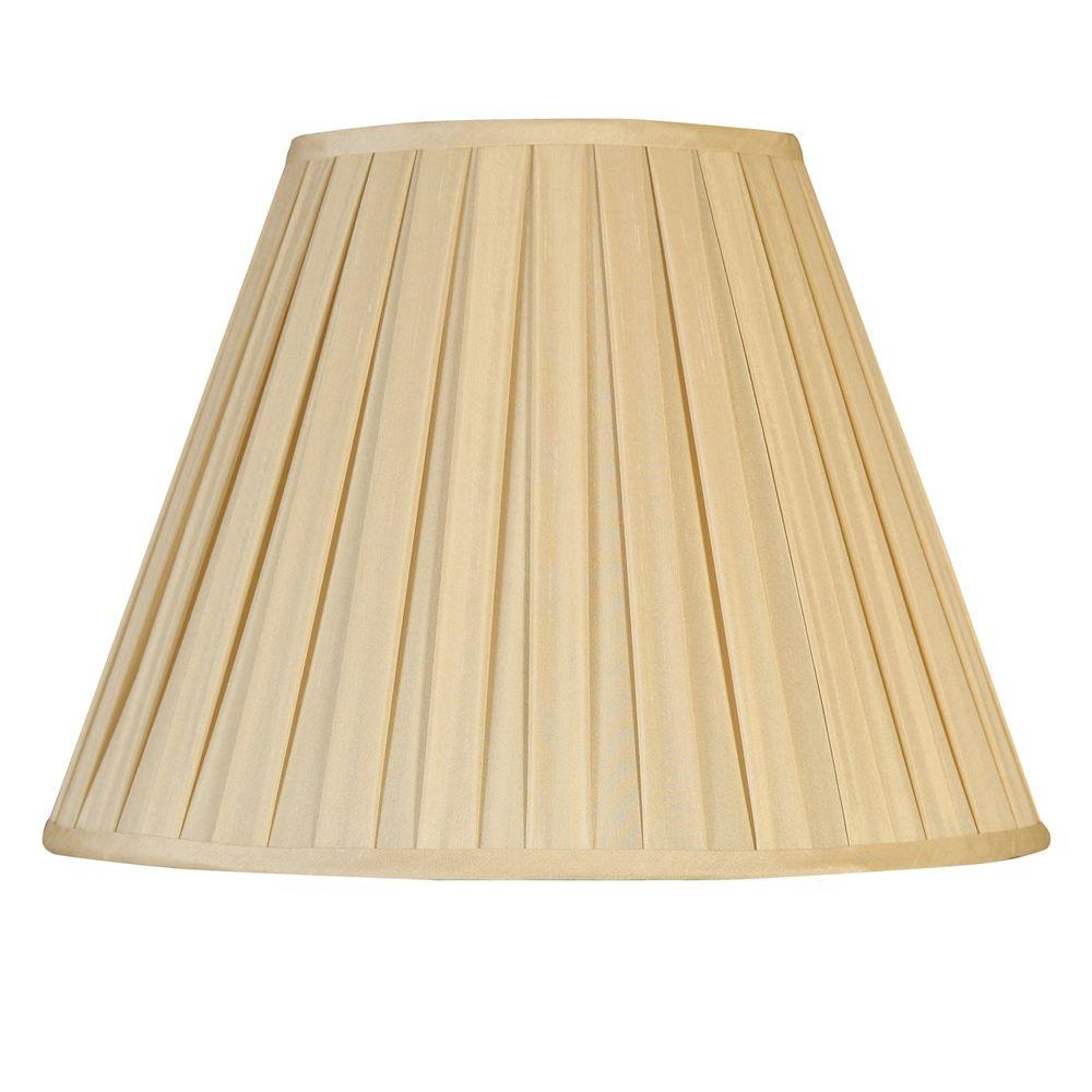 Mario Industries Beige Round Empire Pleat Single Replacement Lamp Shade
