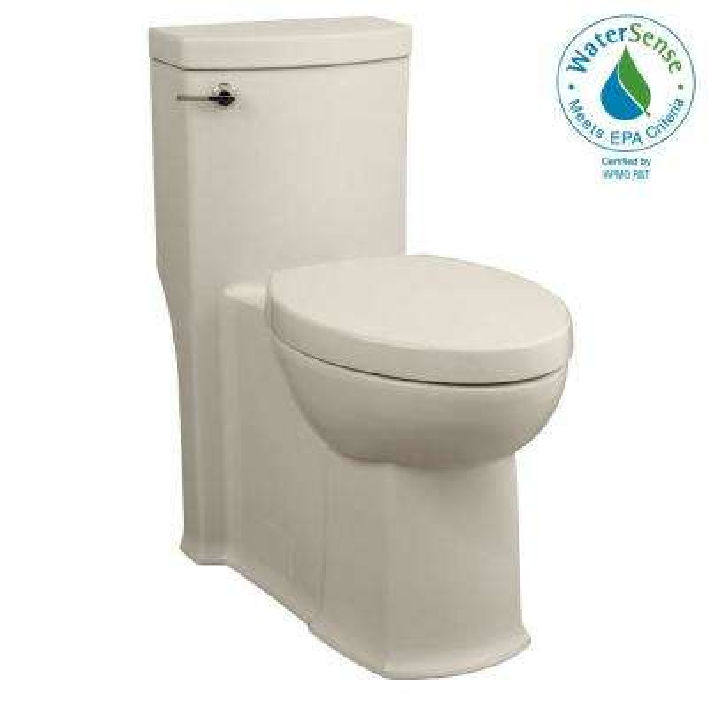 Boulevard Tall Height 1-piece 1.28 GPF Single Flush Elongated Toilet in Linen