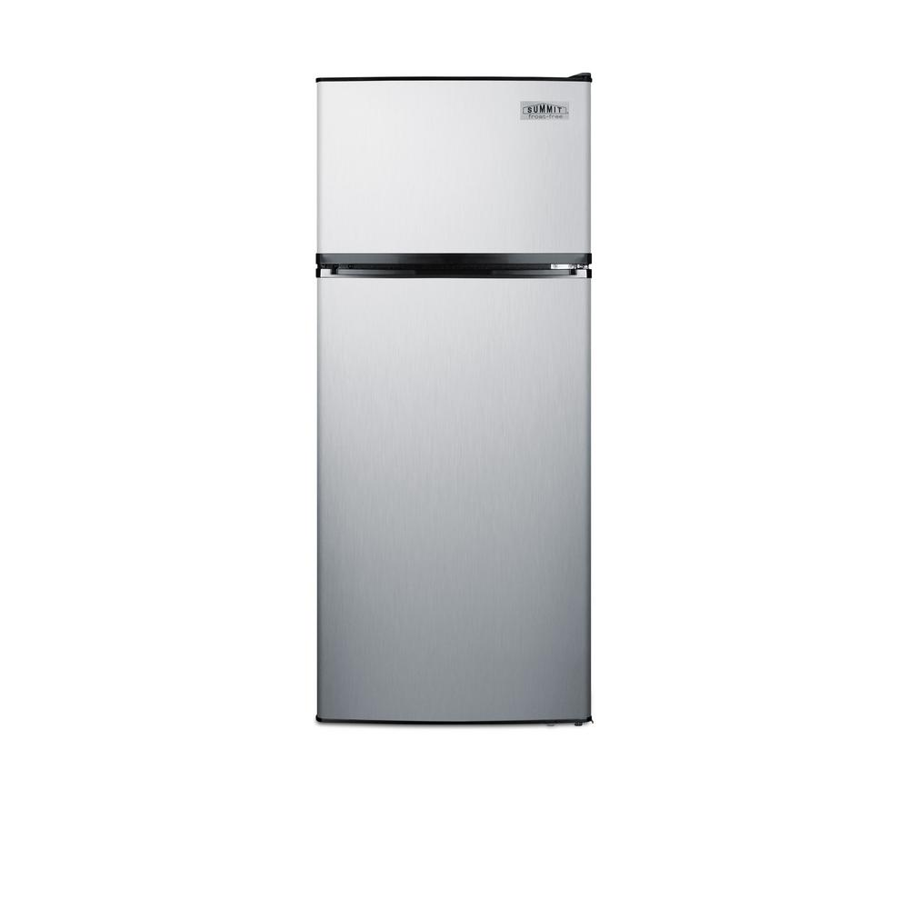 Summit Appliance 10.3 cu. ft. Frost Free Top Freezer Refrigerator In Stainless Steel, ENERGY STAR