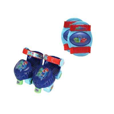 PJ Masks Junior Size 6-12 Roller Skates with Knee Pads