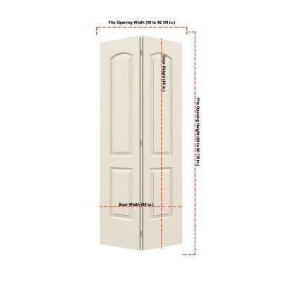 36 in. x 80 in. Continental Primed Smooth Molded Composite MDF Closet Bi-Fold Door