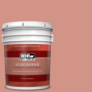 Behr Ultra 5 Gal T15 20 Peach Preserve Extra Durable Flat Interior Paint Primer 172405 The Home Depot