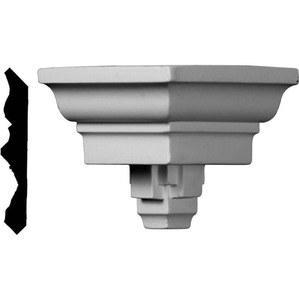 3-3/8 in. x 3-3/8 in. x 3-3/8 in. Polyurethane Crown Outside Corner Moulding
