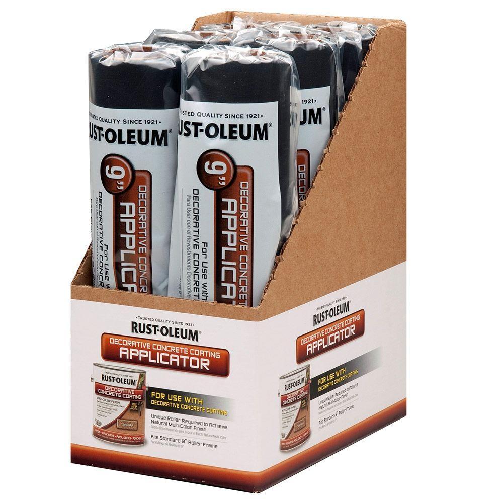 9 in. x 1/4 in. Decorative Concrete Foam Roller Cover (6 Pack)