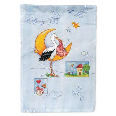 28 in. x 40 in. Polyester Expecting Stork bringing Baby Flag Canvas House Size 2-Sided Heavyweight