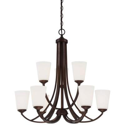 Overland Park 9-Light Vintage Bronze Chandelier