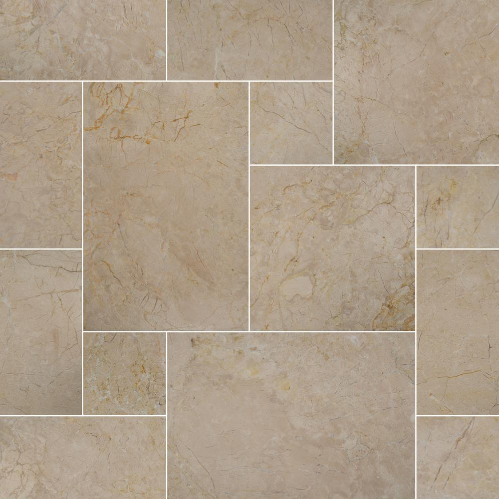 MSI Aegean Pearl Tumbled Pattern Marble Paver Kit (30-Kits/480 sq. ft./Pallet)