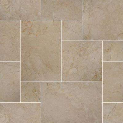 24 in. x 16 in. x 1.18 in. Aegean Pearl Tumbled Pattern Marble Paver Kit (30 Kits/480 sq. ft./Pallet)
