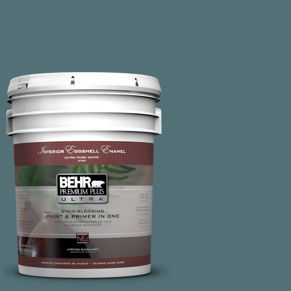 BEHR Premium Plus Ultra Home Decorators Collection 5 gal. #HDC-CL-22 Sophisticated Teal Eggshell Enamel Interior Paint