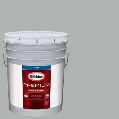 5 gal. #NBA-093B New York Knicks Silver Satin Interior Paint with Primer