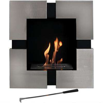 Chaleur 23 in. Wall-Mounted Bio-Ethanol Indoor Fireplace