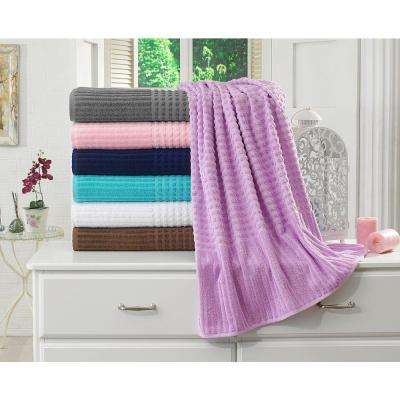 Piano Collection 27 in. W x 55 in. H %100 Turkish Cotton Luxury Bath Towel in Levander