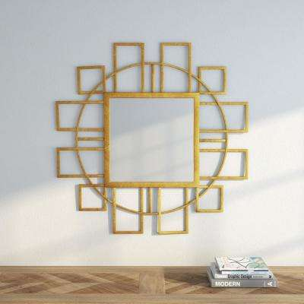 Matrix 35 in. H x 35 in. W Square Framed Mirror