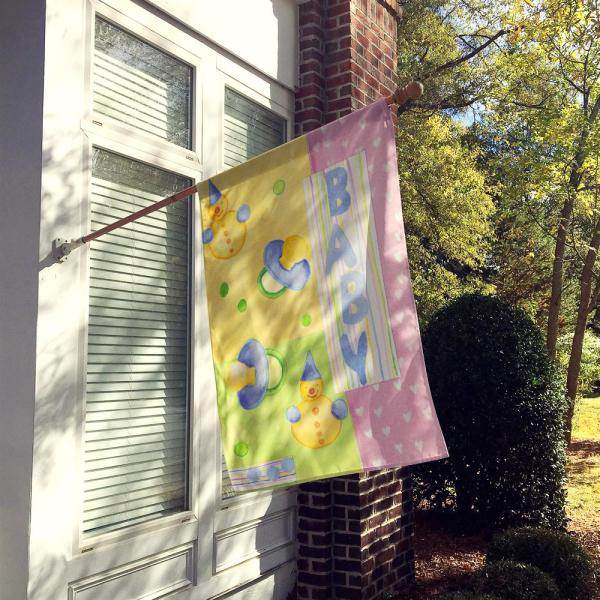 Caroline S Treasures 28 In X 40 In Polyester New Baby Flag Canvas House Size 2 Sided Heavyweight Aph3631chf The Home Depot