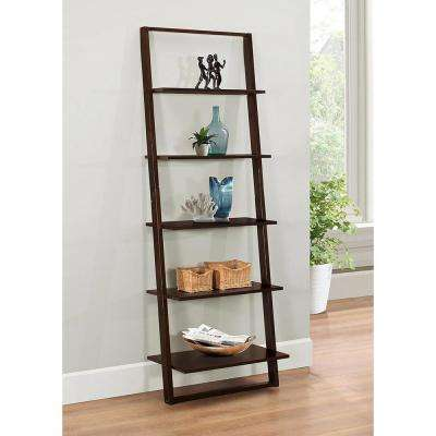 Arlington Dark Cappuccino Ladder Bookcase