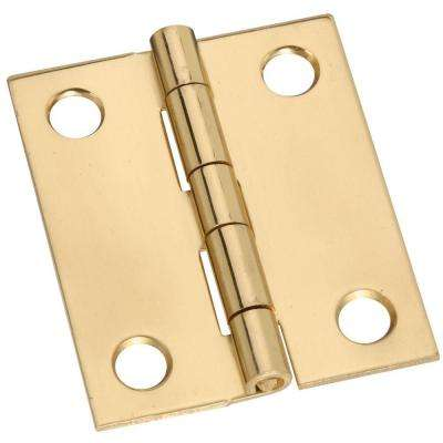 1-1/2 in. Solid Brass Broad Hinge