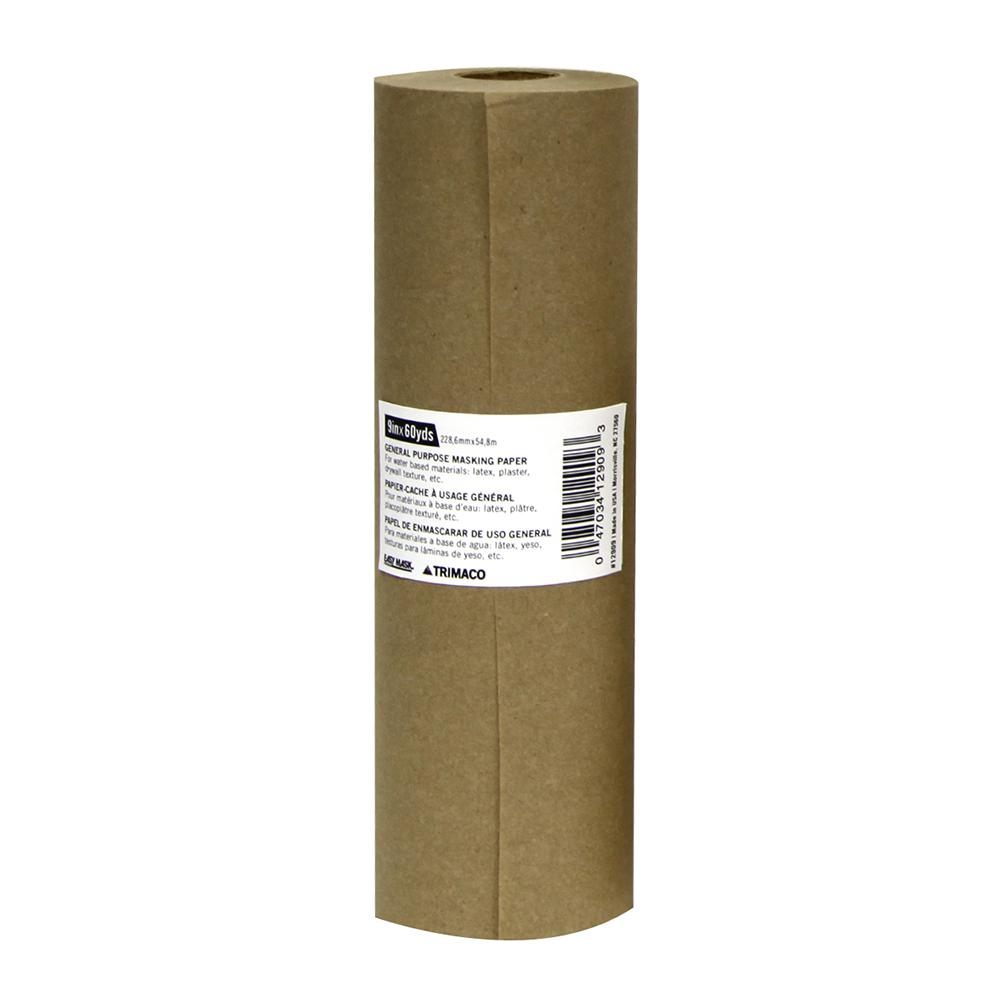 TRIMACO Easy Mask 9 IN. X 180 FT. Brown General Purpose Masking Paper