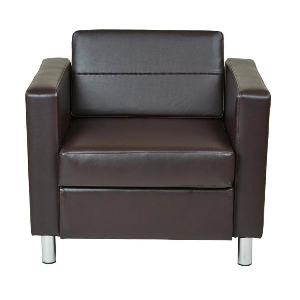 Office Star Products Pacific Espresso Faux Leather Arm Chair PAC51-V34
