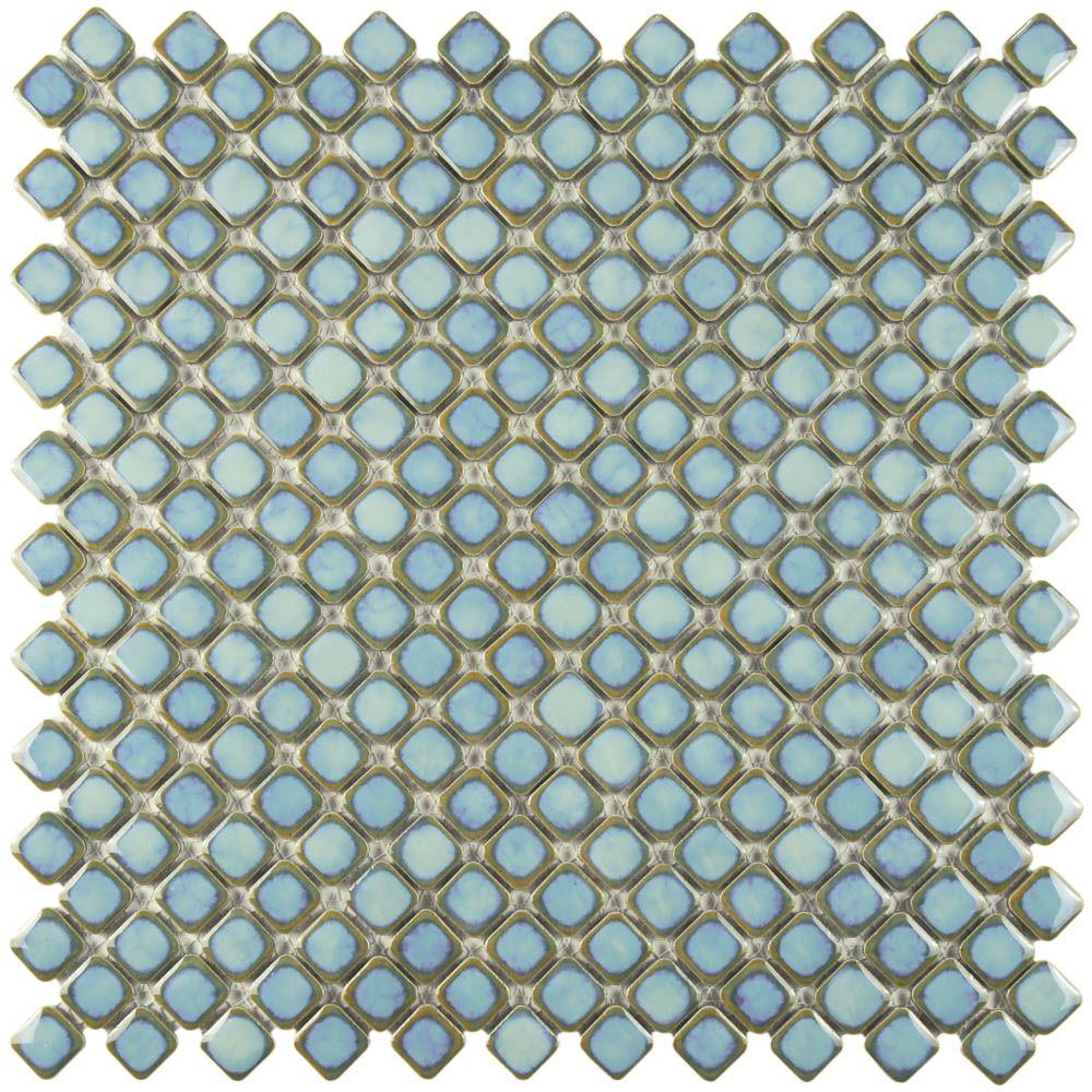 Floor - Turquoise/Aqua - Bathroom - Tile - Flooring - The Home Depot