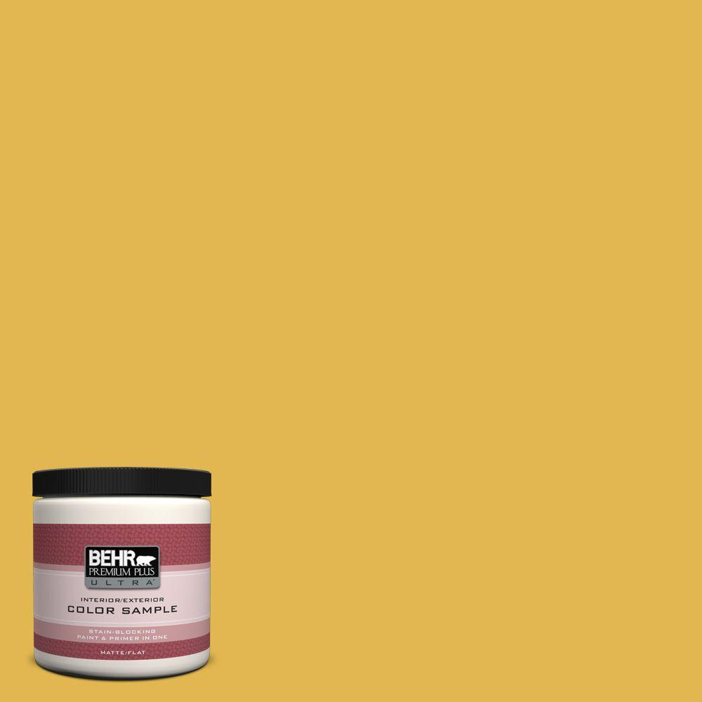 Exterior Paint Colors Home Depot: BEHR Premium Plus Ultra 8 Oz. #360D-6 Yellow Gold Interior
