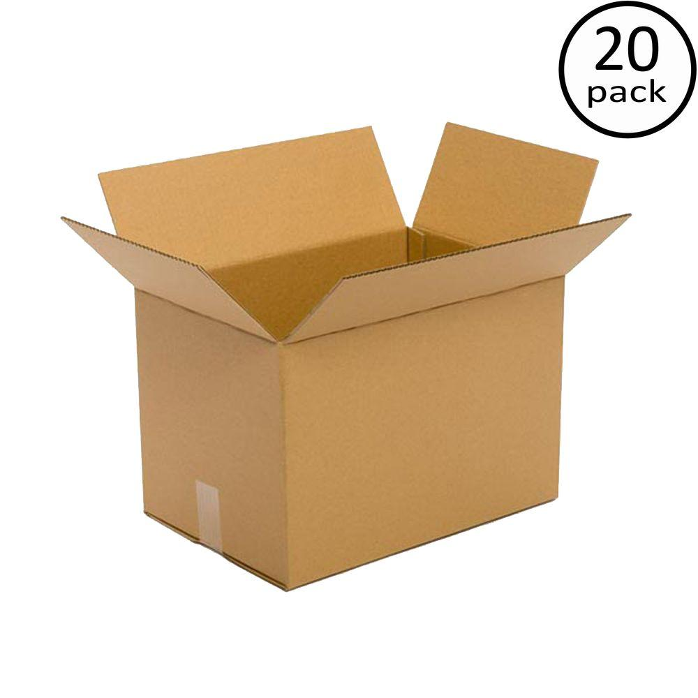 Plain Brown Box 18 in. x 14 in. x 12 in. 20 Moving Box Bundle
