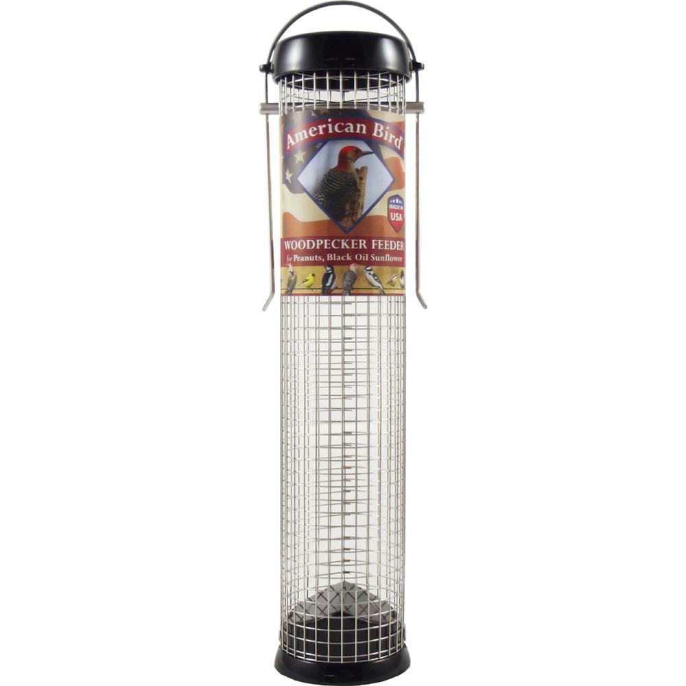 13 in. American Bird Woodpecker Feeder