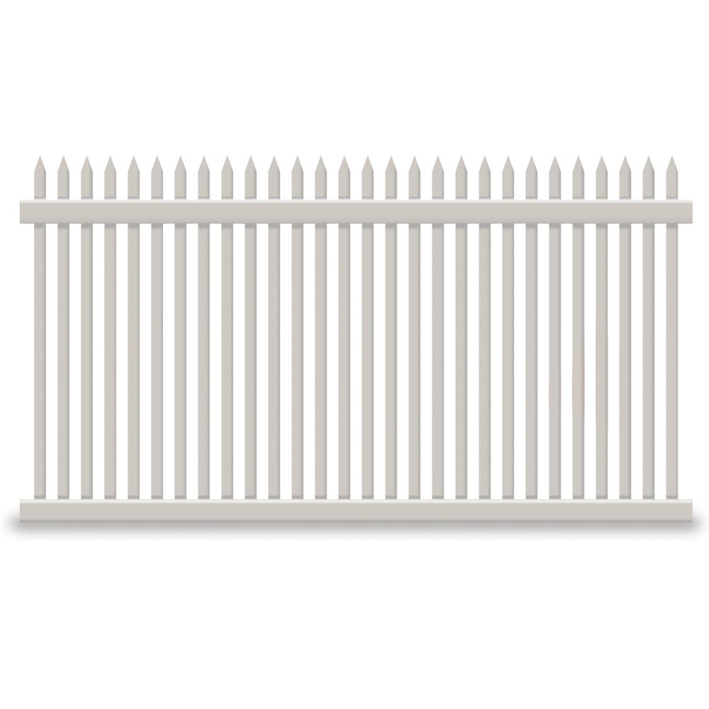 Hartford 4 ft. H x 6 ft. W Tan Vinyl Picket
