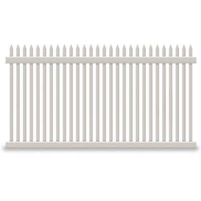 Hartford 5 ft. H x 8 ft. W Tan Vinyl Picket Fence Panel